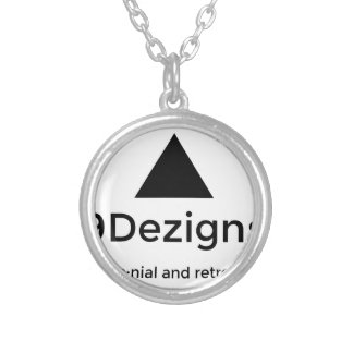 9Dezigns Millennial and Retro Gear Silver Plated Necklace