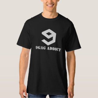 9GAG addict shirt black