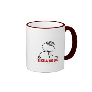 9GAG like a boss cup Coffee Mugs