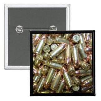 9mm ammo Ammunition 15 Cm Square Badge