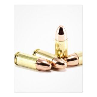 9mm Bullets 21.5 Cm X 28 Cm Flyer