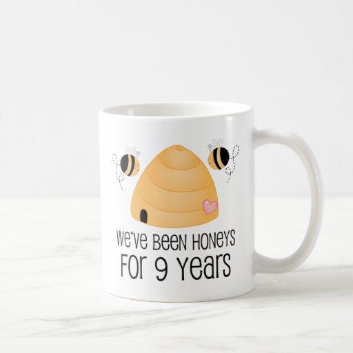 9th anniversary couple gift mugs 9 year anniversary gift