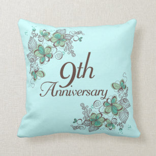 For 9th anniversary gifts zazzle 9th anniversary gift throw pillow negle Gallery