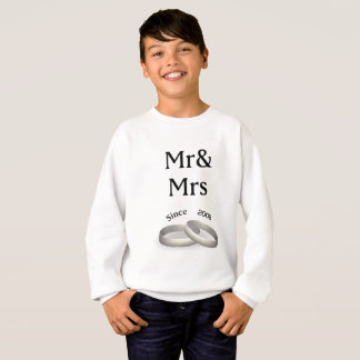 9th anniversary matching Mr. And Mrs. Since 2008 Sweatshirt