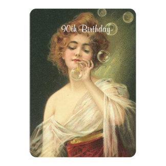 9th Birthday, Beautiful Victorian Woman, Custom Card