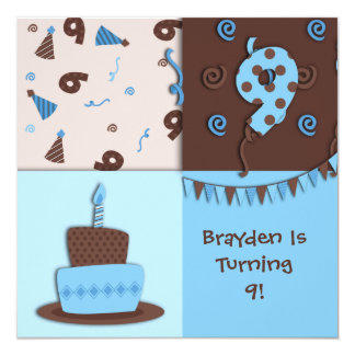 9th Birthday : Boy : Invitation