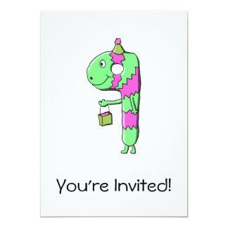9th Birthday. Bright and Colorful Cartoon. 13 Cm X 18 Cm Invitation Card