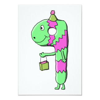 9th Birthday. Bright and Colorful Cartoon. 9 Cm X 13 Cm Invitation Card