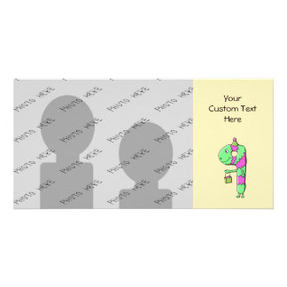 9th Birthday. Bright and Colorful Cartoon. Custom Photo Card
