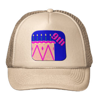 9th Birthday Cake Gifts Cap