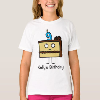 9th Birthday Cake with Candles T-Shirt
