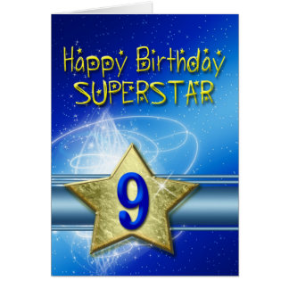 9th Birthday card for Superstar