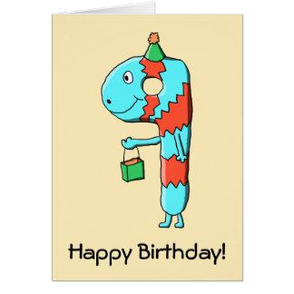 9th Birthday Cartoon. Greeting Card