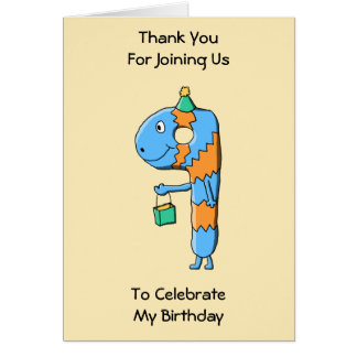9th Birthday Cartoon Monster. Greeting Card