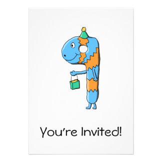 9th Birthday Cartoon Monster. Personalized Invites