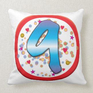 9th Birthday Throw Pillows