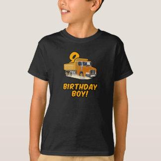 9th Birthday Dump Truck T Shirts - BDay Shirts