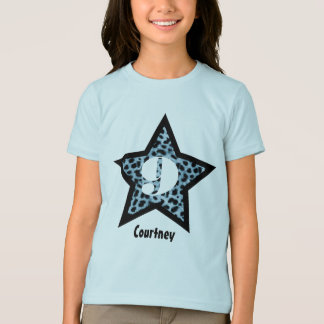 9th Birthday Gift Leopard Star Custom Name V23 T-Shirt
