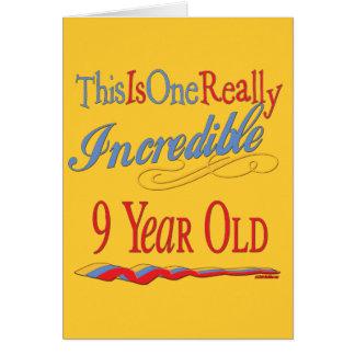 9th Birthday Gifts Card