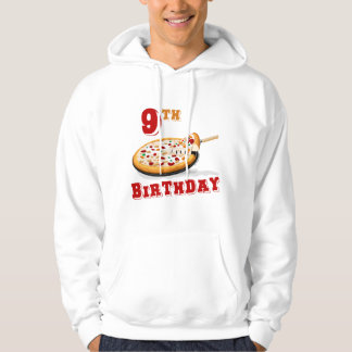 9th Birthday Pizza Party Hoodie
