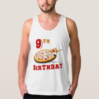 9th Birthday Pizza Party Singlet