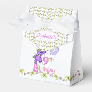 9th Birthday Princess Bear Custom Wedding Favour Box