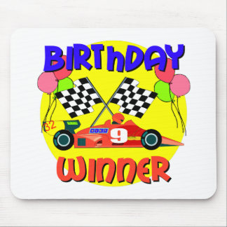 9th Birthday Race Car Birthday Mousepad