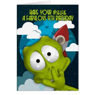 9th Birthday #Selfie Birthday Card