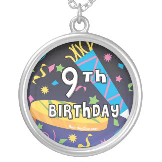 9th Birthday Silver Plated Necklace