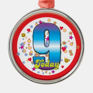 9th Birthday Today v2 Ornaments