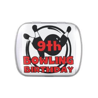 9th Bowling Birthday Candy Tin