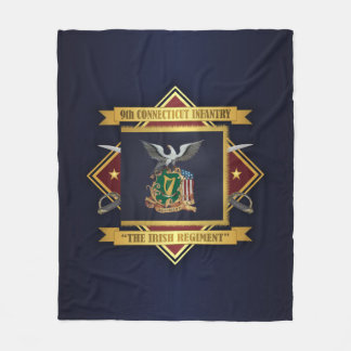 9th Connecticut Volunteer Infantry Fleece Blanket