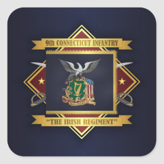 9th Connecticut Volunteer Infantry Square Sticker