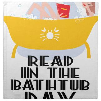 9th February - Read In The Bathtub Day Cloth Napkin