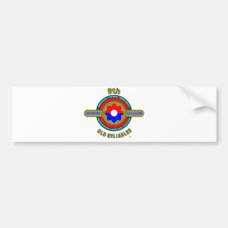 """9TH INFANTRY DIVISION """"OLD RELIABLES"""" BUMPER STICKER"""