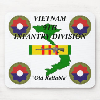 9th Infantry Vietnam Mousepad 1/w
