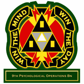 9th Psychological Operations Battalion DUI Standing Photo Sculpture