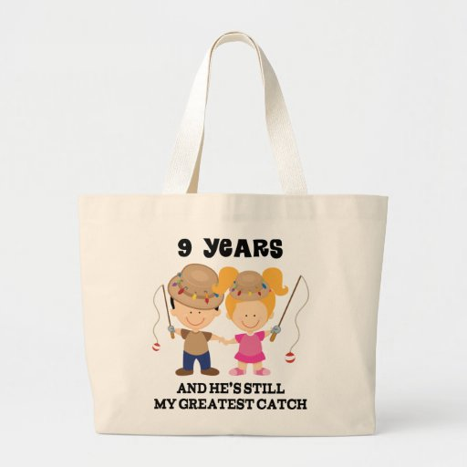 9th wedding anniversary gift for her tote bag 9 year anniversary gift