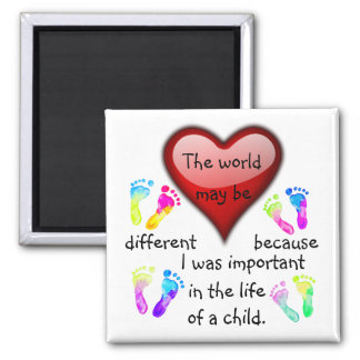 A0001.I Was Important in the Life.Magnet.3 Square Magnet