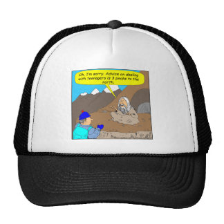 A001 Guru teenagers advice cartoon Hats