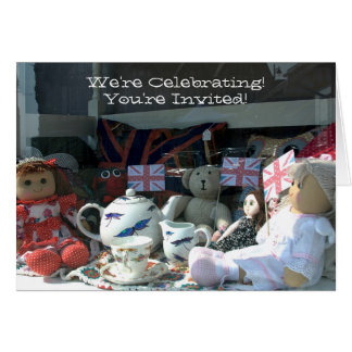 A003_005 Tea Party - You're Invited -  Card