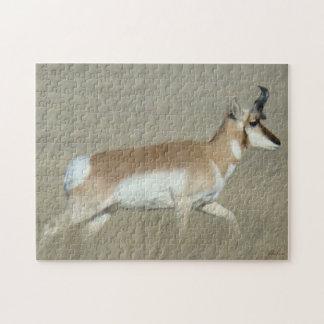 A0044 Pronghorn Antelope Buck Jigsaw Puzzle