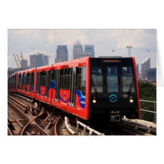A006_01: London DLR Train to Woolwich Poster Greeting Card