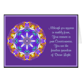 A01 Kaleidoscopic Mandala Floral Design.4 Card