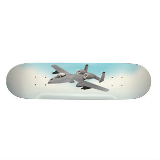 A10 Military Plane Illustration 21.6 Cm Skateboard Deck