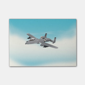 A10 Military Plane Illustration Post-it Notes