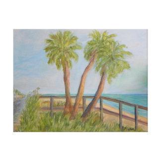 A1A in FLAGLER BEACH FLORIDA Canvas Print