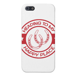 A258 happy place horseshoes red cases for iPhone 5