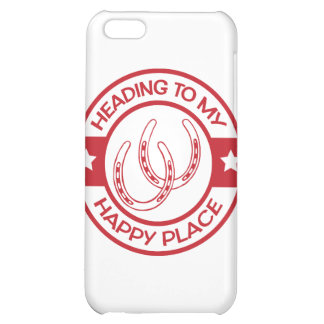 A258 happy place horseshoes red cover for iPhone 5C