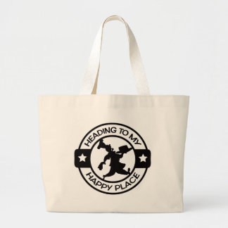 A259 happy place pastry chef black jumbo tote bag